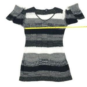 Ultra Flirt Sweaters - Ultra Flirt Women's Black,  Gray & White Sweater